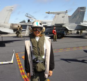 Becky on Deck with F18