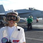 Becky-on-deck aircraft carrier